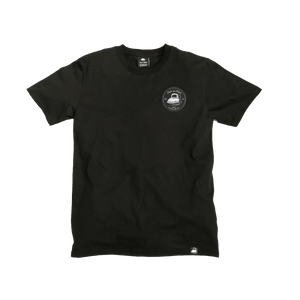 Black Organic Cotton Tee + Iron & Stitch Logo Patch (L) - Iron & Stitch