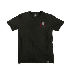 Black Organic Cotton Tee + Whispering Tongues Patch (L) - Iron & Stitch