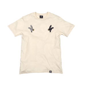 Natural Organic Cotton Tee + Eagles Patch Pack (R) - Iron & Stitch