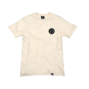 Natural Organic Cotton Tee + Trust No One Patch (L) - Iron & Stitch