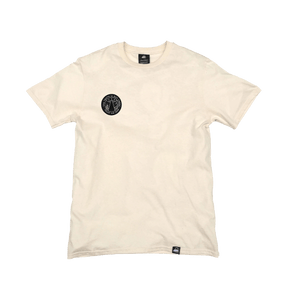 Natural Organic Cotton Tee + Trust No One Patch (R) - Iron & Stitch