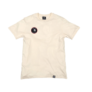 Natural Organic Cotton Tee + Whispering Tongues Patch (R) - Iron & Stitch