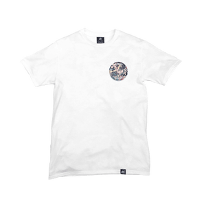 White Organic Cotton Tee + Be Real Not Perfect Patch (L) - Iron & Stitch
