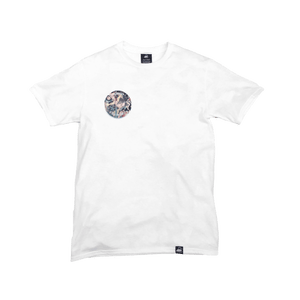 White Organic Cotton Tee + Be Real Not Perfect Patch (R) - Iron & Stitch