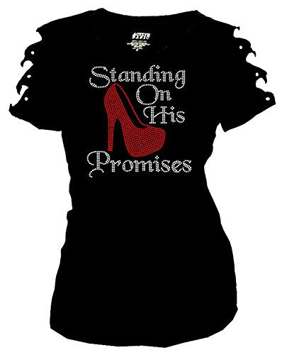 Standing On His Promises Rhinestones T-Shirt