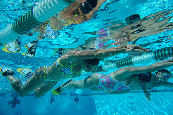 Kristy Kowal Lexie Kelly Swim Laguna Fin World Swim Day