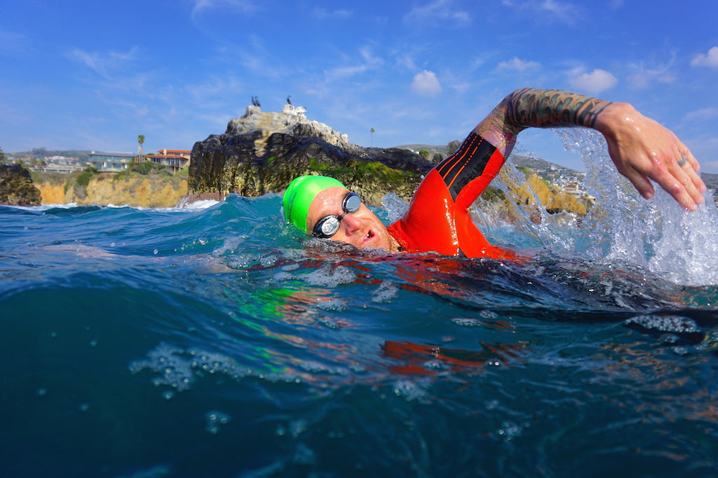 Bryan Mineo The Swim Mechanic Laguna Fin Seal Rock Swim Ocean