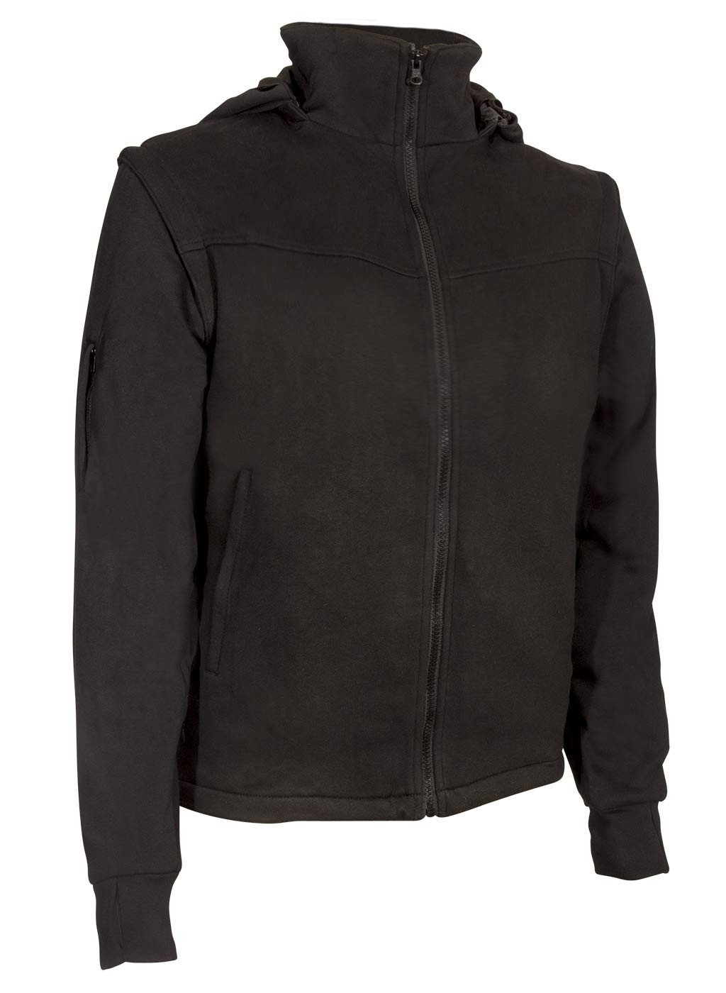 black sweat shirt mens travel jacket
