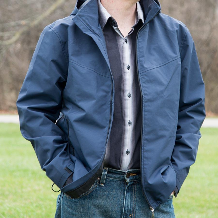 Blue Travel Jacket with Hidden Pockets | | Global Travel Clothings
