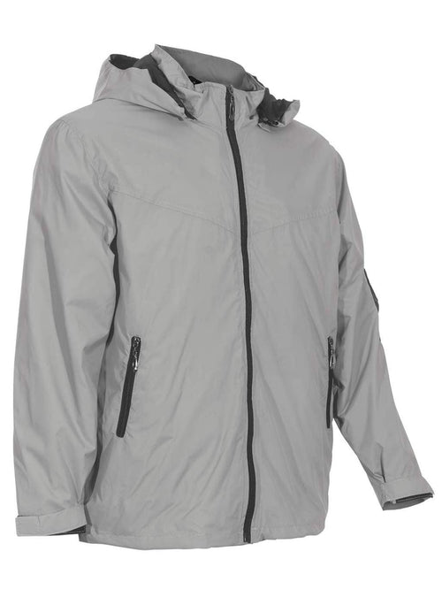 Mens Gray Canvas Travel Jacket | Global Travel Clothings