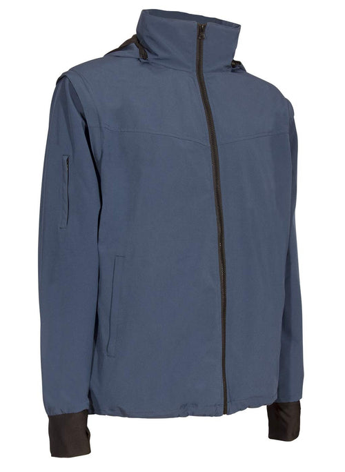 Blue Soft Shell Travel Jacket | Global Travel Clothings
