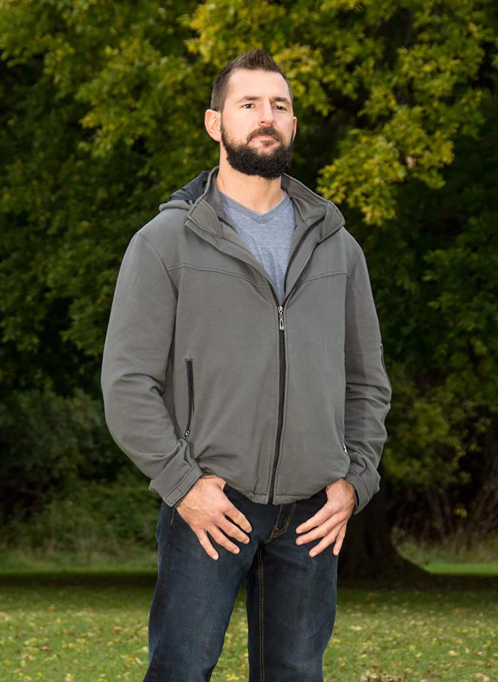 travel Jacket with hidden pockets