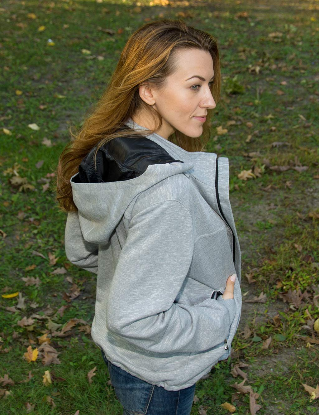 Light Grey Jacket with lots of pockets