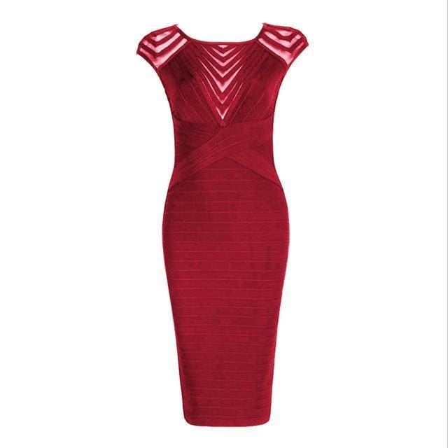 Robyn Sleeveless Bodycon Wine Red As Photo / S