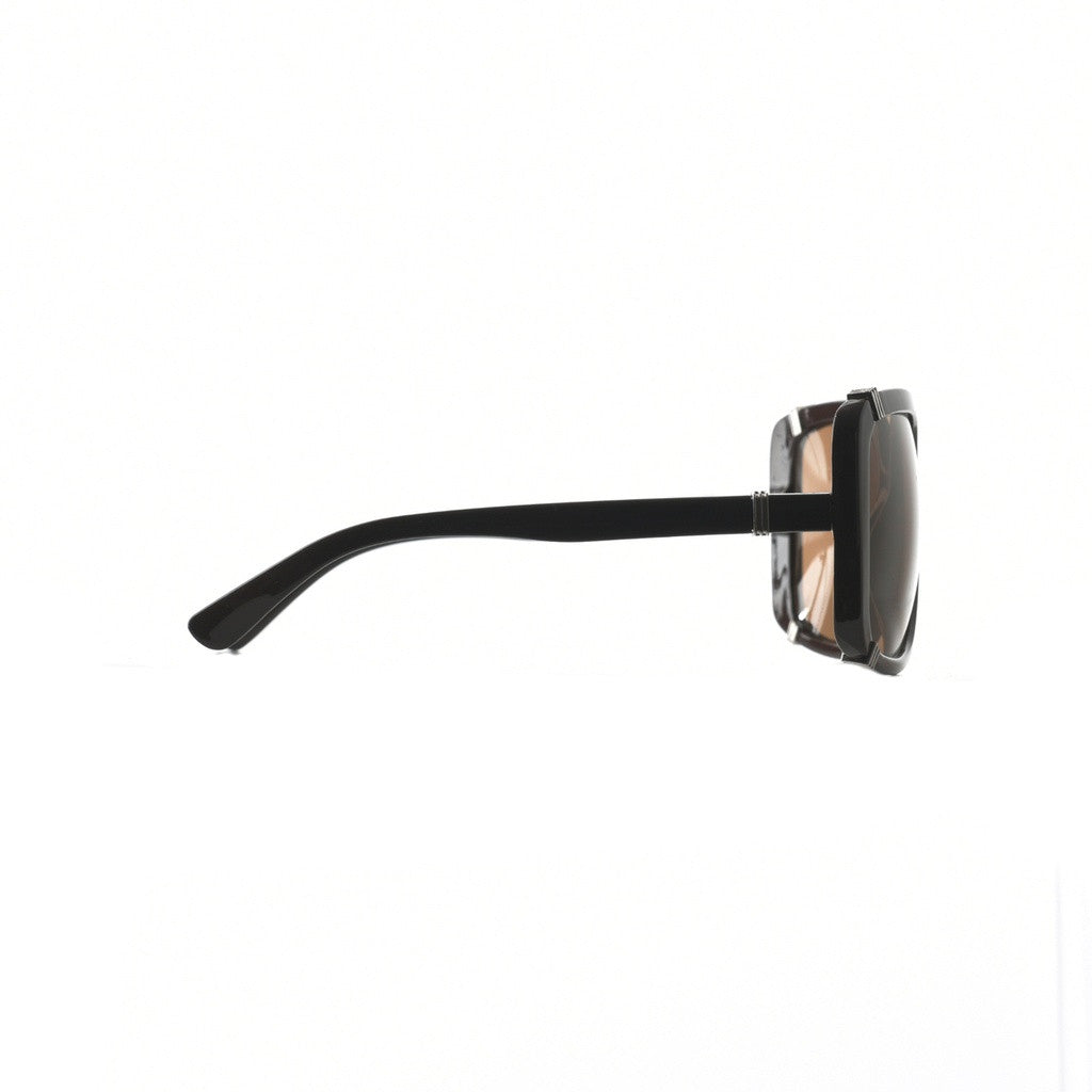 Womens Oversize Square Sunglasses with Metal Accents