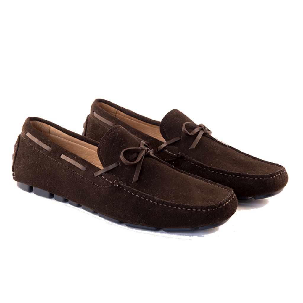Santo - Driving Moccasin In Chocolate Suede