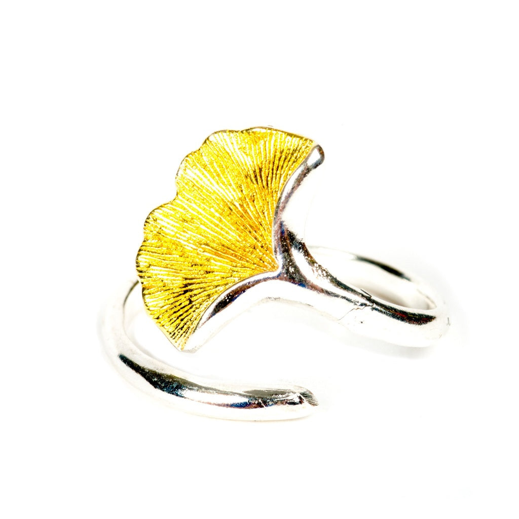 Promise Ginkgo Leaf Sterling Silver Ring