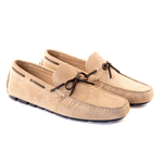 Santo - Driving Moccasin In Beige Suede