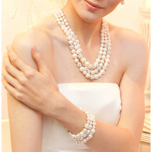 Adalia Grand Shell Pearl Statement Necklace