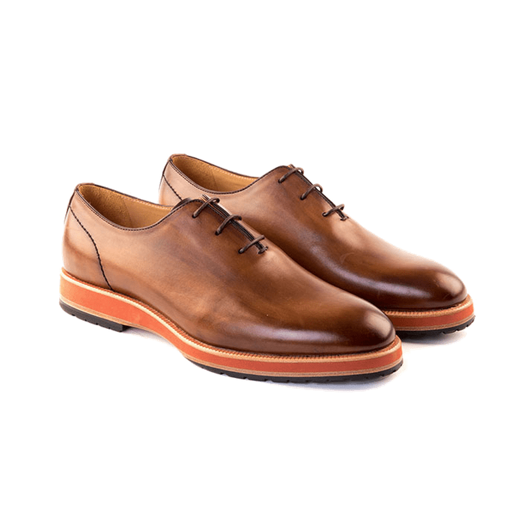 Francesco - Wholecut Oxford In Chestnut Calf Leather