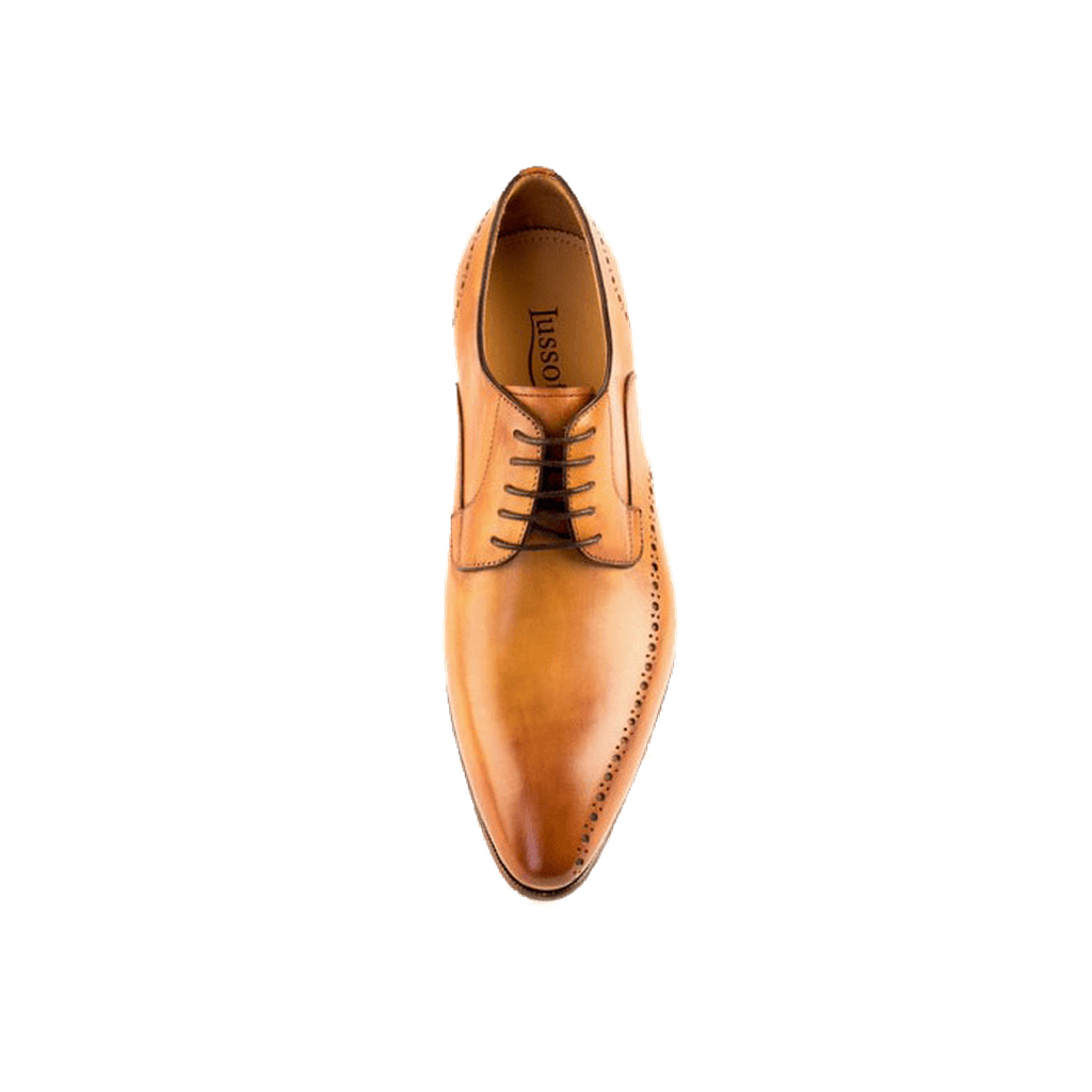 Nero - Derby Shoe In Tan Calf Leather