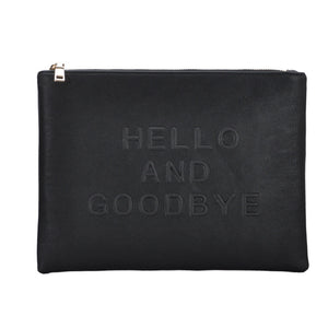 Mechaly Women's Slogan Bye Black Vegan Leather Crossbody