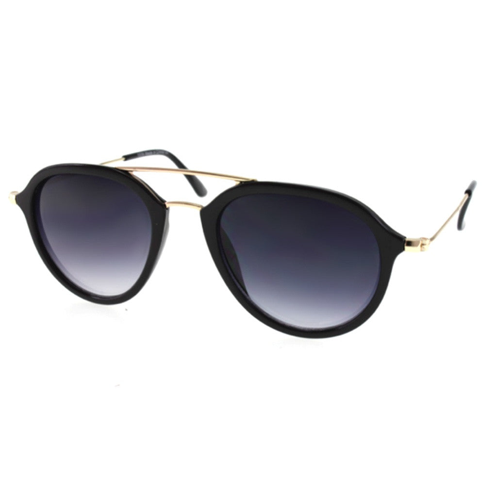 Pilot Sunglasses Black with Double Bridge