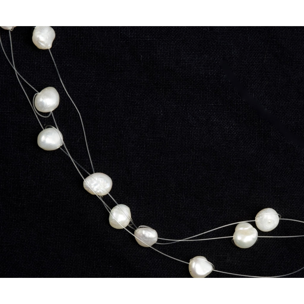 Radiance Floating Pearl Necklace