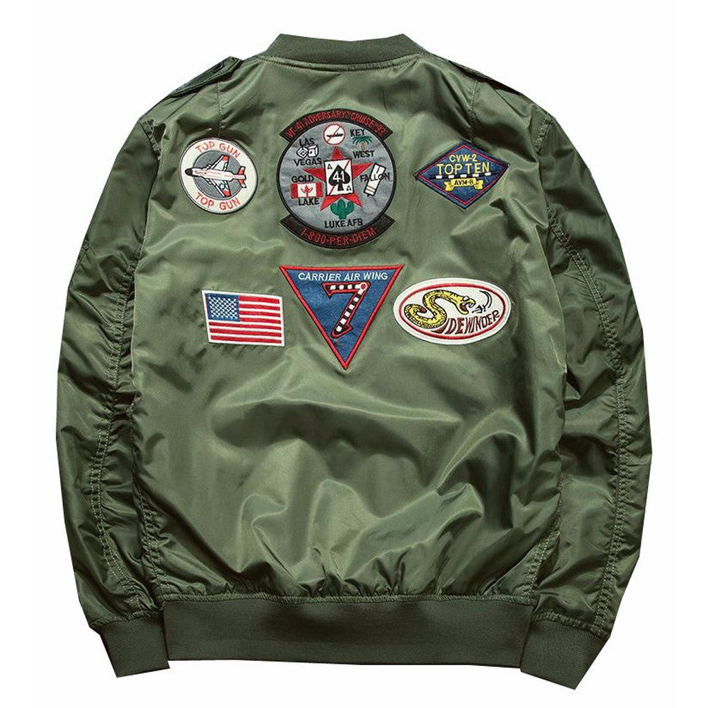 Top Gun Bomber Jacket (Olive) *Made to Order*