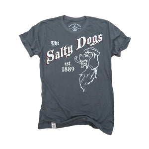 The Salty Dogs: Organic Fine Jersey Short Sleeve T-Shirt in Slate