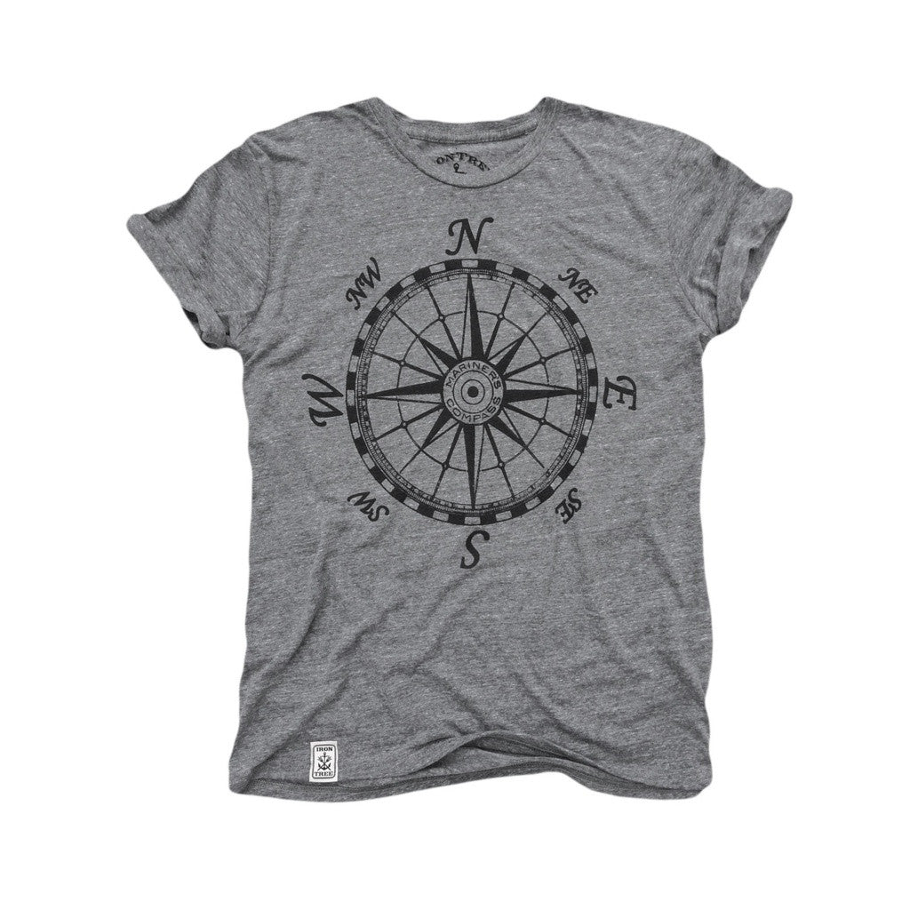 Mariner's Compass: Tri-Blend Short Sleeve T-Shirt in Tri Athletic Grey