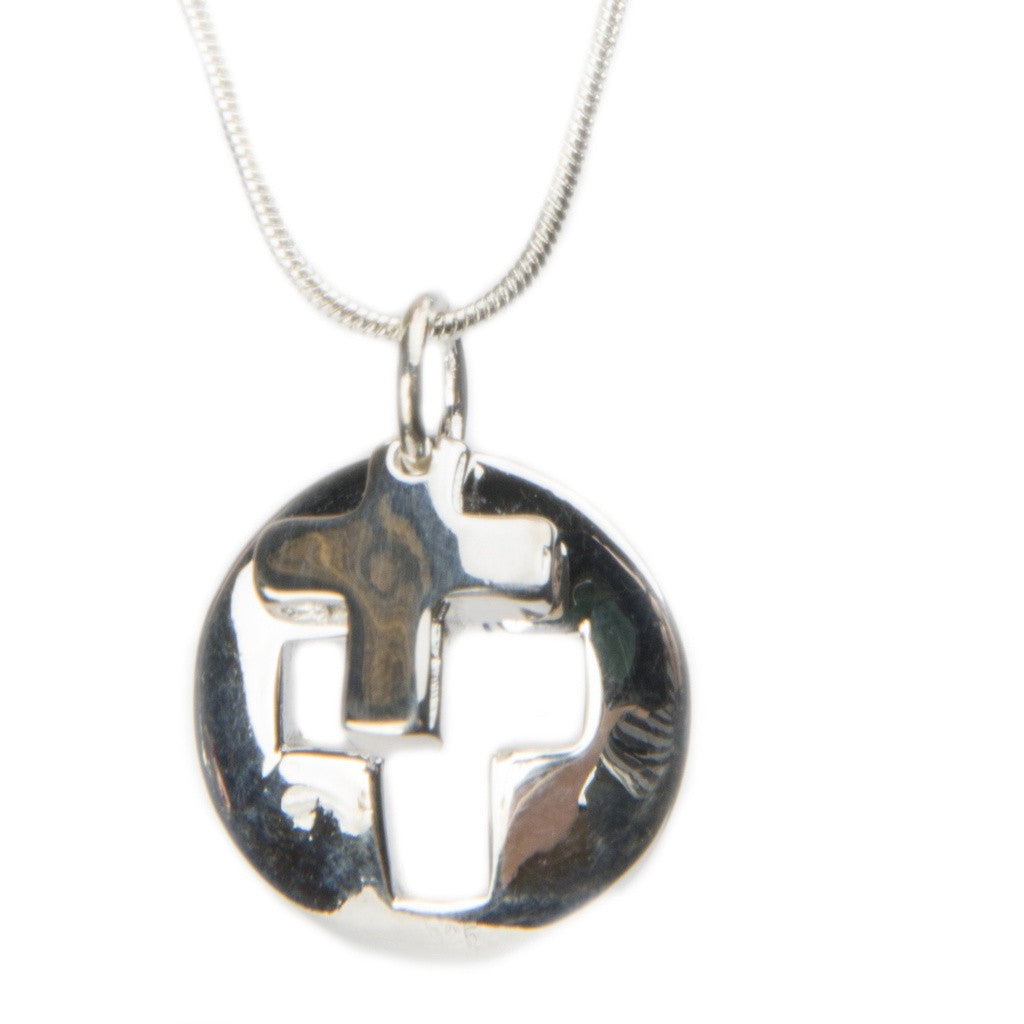 Christiana Silver Cross Pendant Necklace