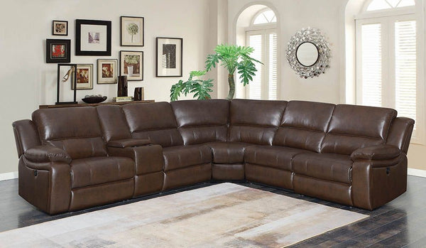 Incredible Brown Leatherette Sectional Sofa Gmtry Best Dining Table And Chair Ideas Images Gmtryco