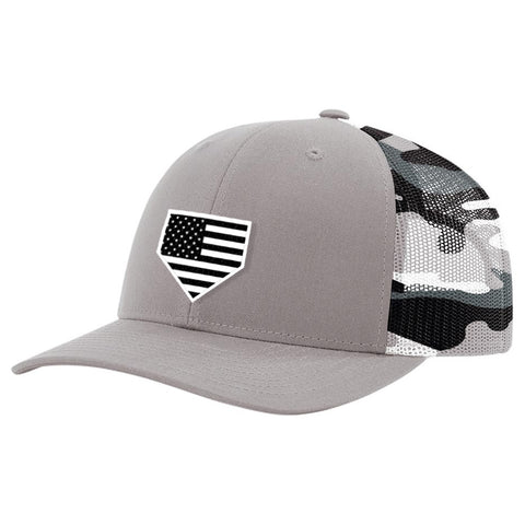 USA Home Plate Grey Camo Hat