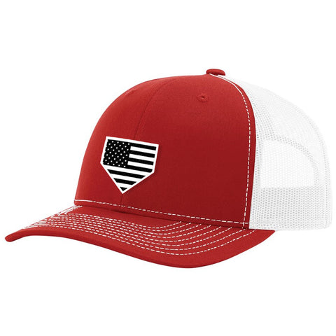 USA Home Plate Red & White Hat