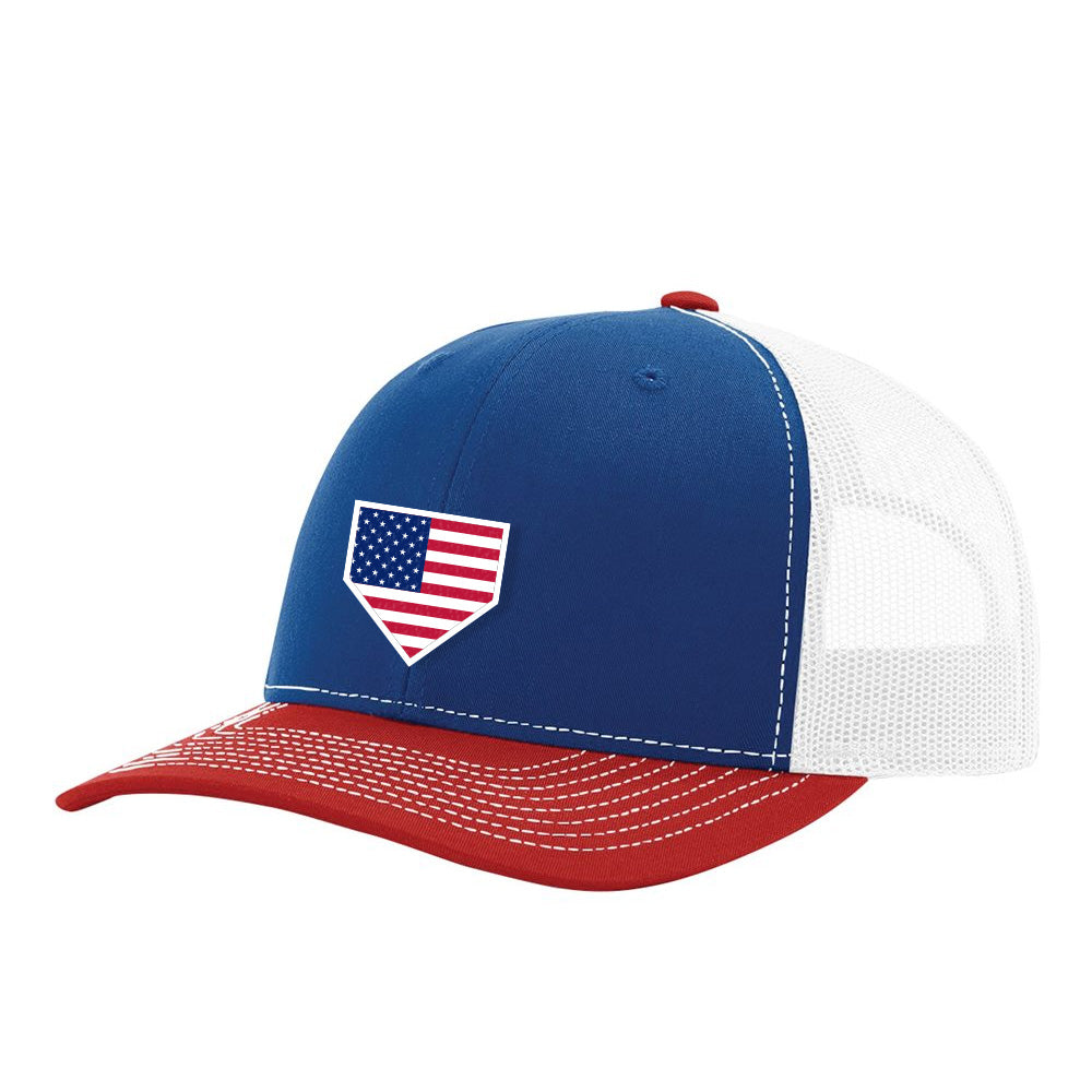 USA Home Plate Red, White & Blue Hat