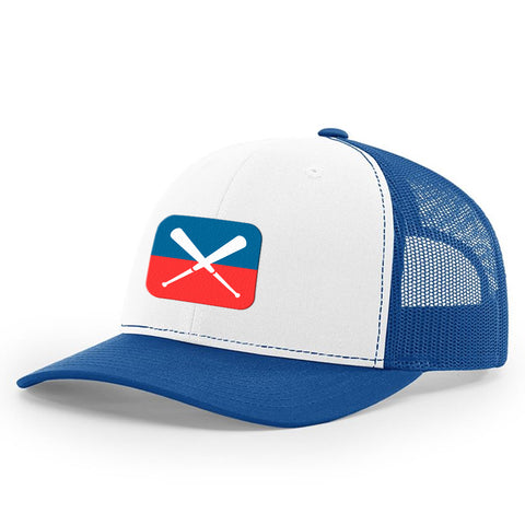 Bat X White & Blue Hat