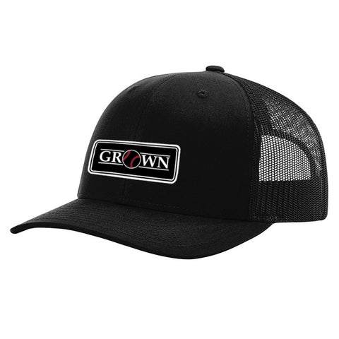 Grown Baseball Patch Black Hat
