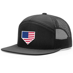 USA Home Plate Black Hat