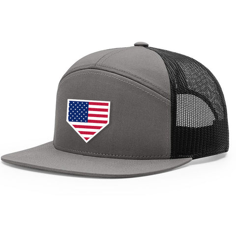 USA Home Plate Charcoal & Black Hat