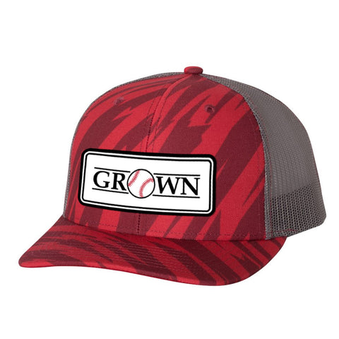 Grown Baseball Patch Streak Red/Charcoal Hat