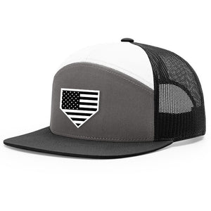 USA Home Plate Charcoal, White & Black Hat