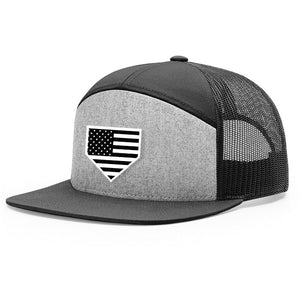 USA Home Plate Heather Grey & Black Hat