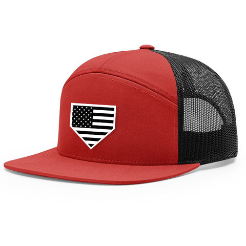 USA Home Plate Red & Black Hat