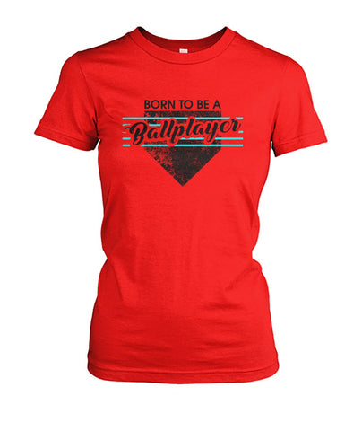 Born To Be A Ballplayer Black Crew Tee