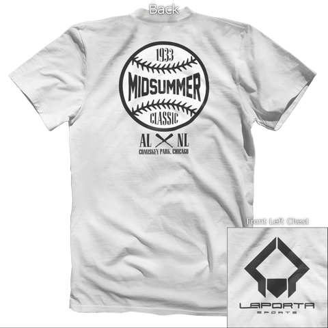 Midsummer Classic Black & White Back Design Apparel