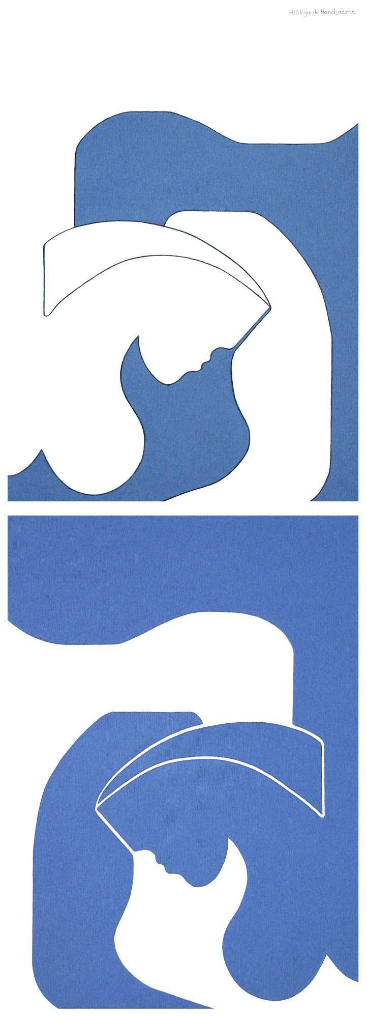 Blue Shadow (diptych) by Hildegarde Handsaeme, Painting at Art Acacia Gallery & Advisory