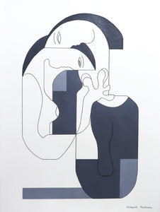 Four Shades of Grey Painting Hildegarde Handsaeme