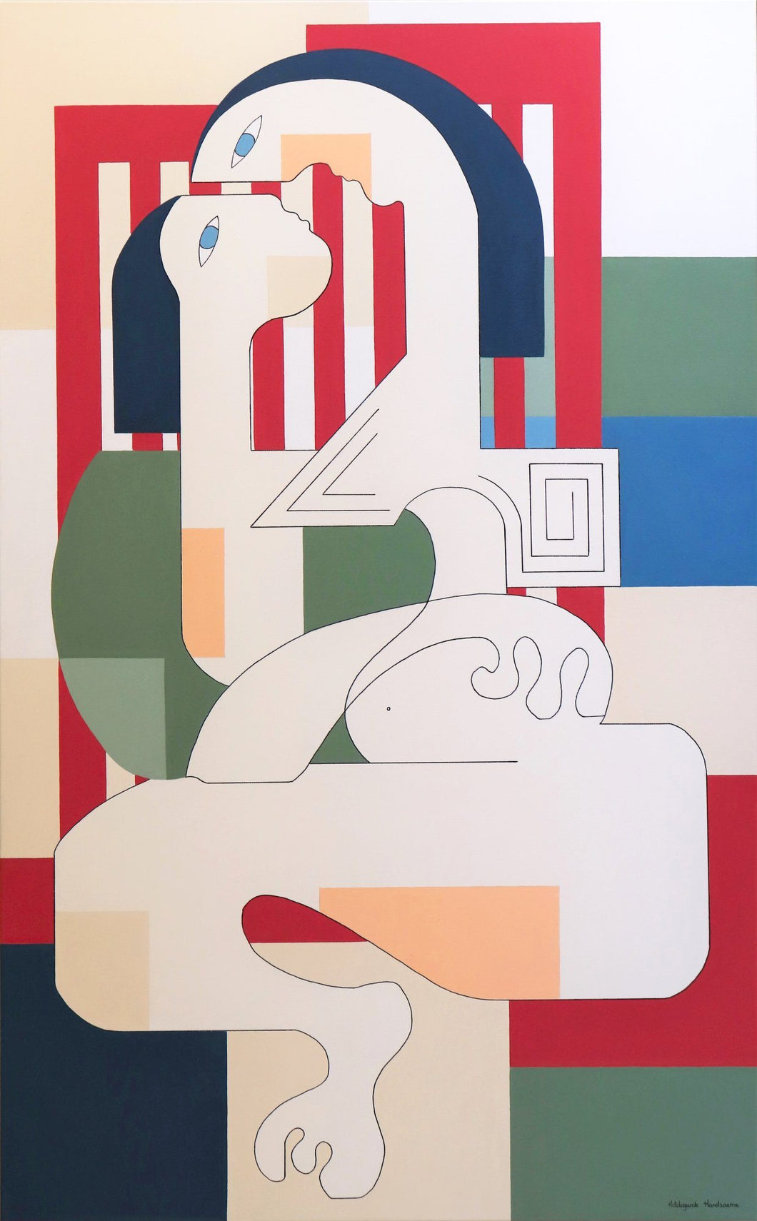 Amourette by Hildegarde Handsaeme, Painting at Art Acacia Gallery & Advisory