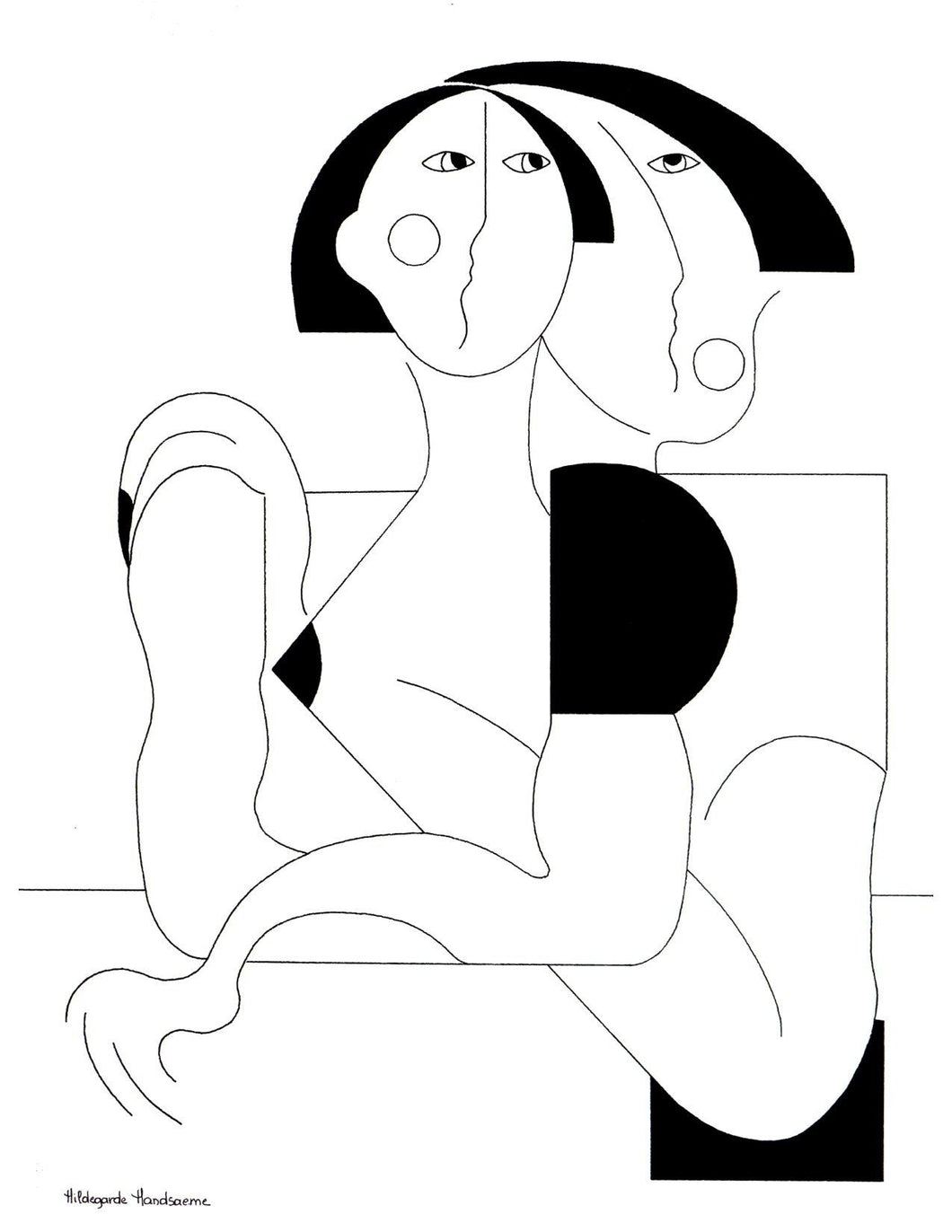 Love and Protection by Hildegarde Handsaeme, Drawing at Art Acacia Gallery & Advisory